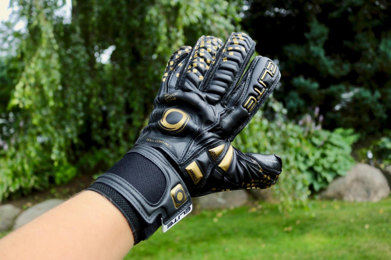 Elite Sport Black Real goalkeeper gloves for soccer games review KeeperStop.com black gold affordable goalie gloves