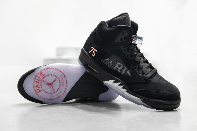 nike air Jordan 5 retro sneakers Jordan brand and Paris saint-germain football club